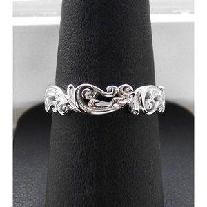 STERLING SILVER Scrolls Swirls 5.3 (mm) Band Ring